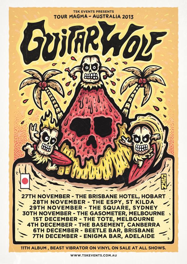 Guitar Wolf Australian Tour Poster