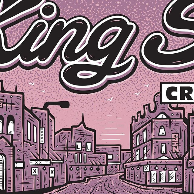KING ST CRAWL LOGO! ...details from the upcoming Newtown street-festival, the King St Crawl. Sunday the 6th of September. By the fine gentlemen of Music Booze & Co.  #kingstcrawl #newtown #innerwest  #logo #illustration #somethingidrew