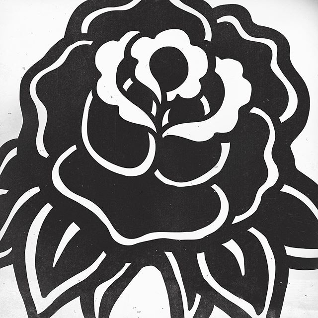 BLACK ROSE! I'm hoping to release this slippery little sucker as a shirt and art print soon. Nice and simple. Unfuckwithable. Will announce more on this soon and where it'll be for sale. Any takers? #sindysinn #blackrose #illustration
