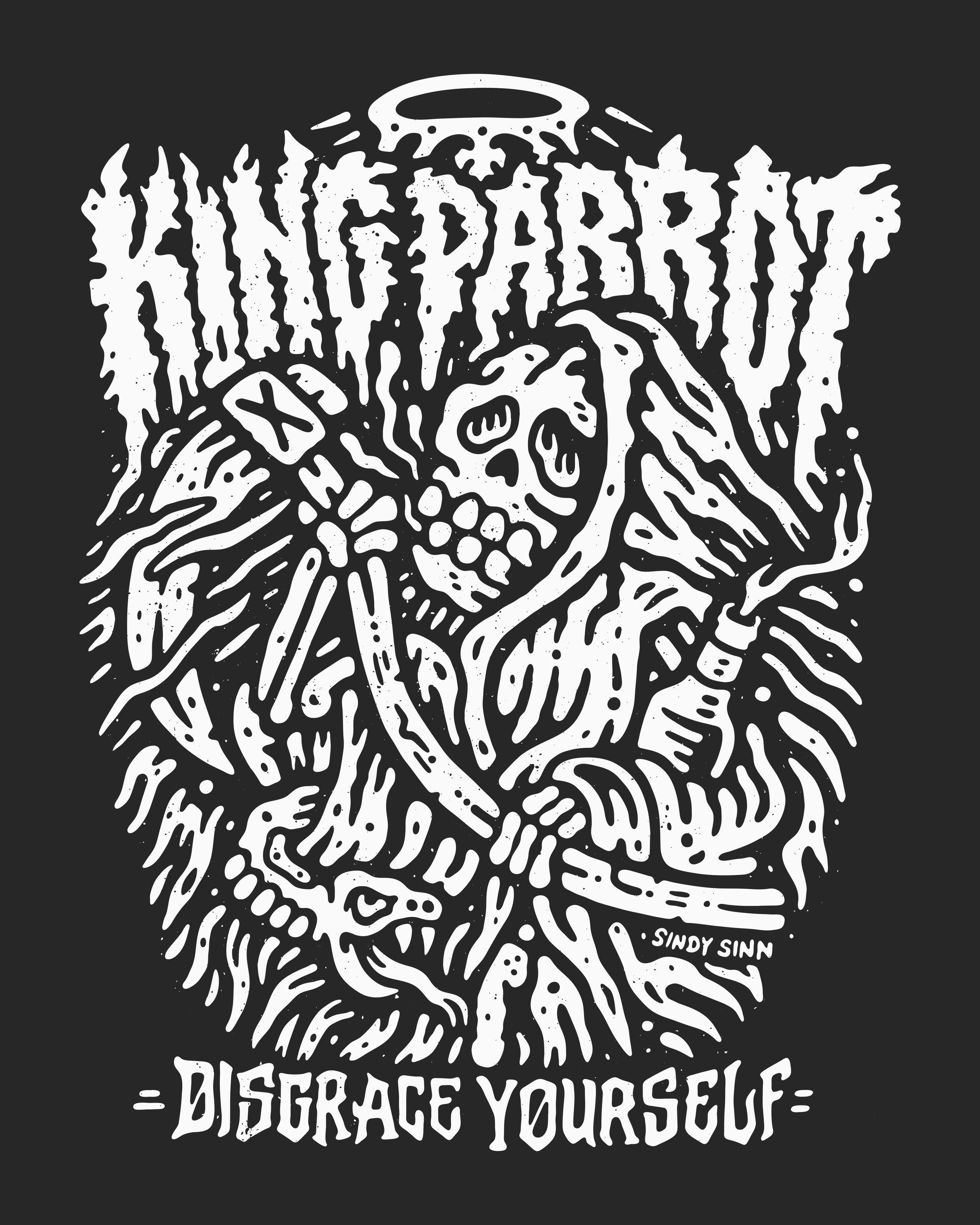 SINDY SINN - KING PARROT [MAIN PRINT - BLACK N WHITE 2 TEXTURE].jpg