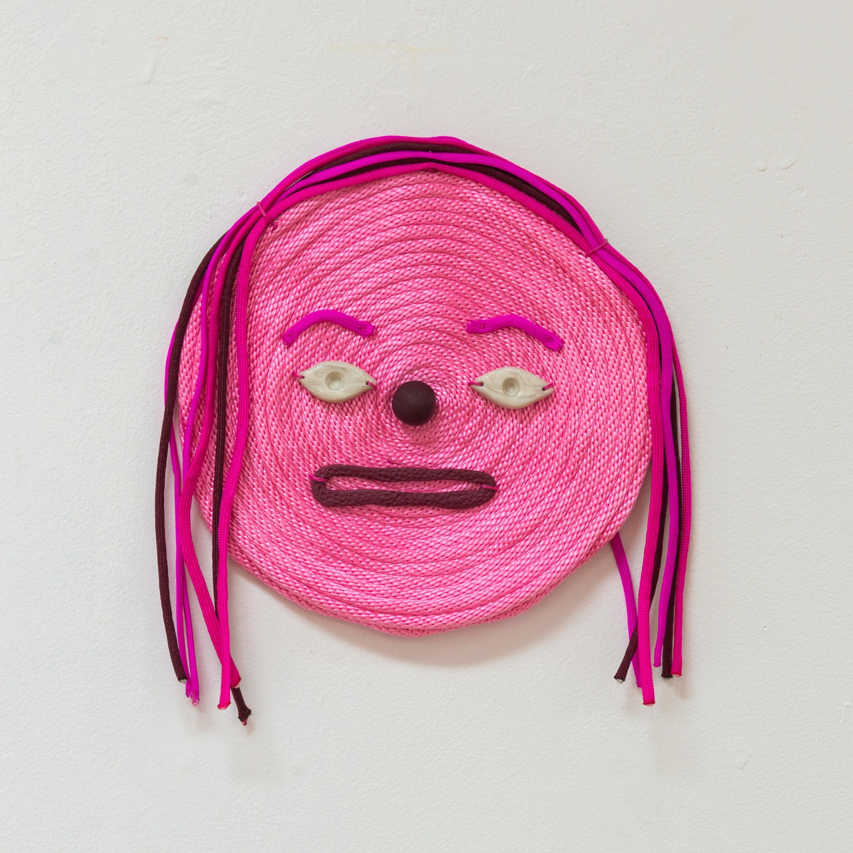 Ruby (haunted by) , 2019 Bondage rope, paracord, polymer clay.