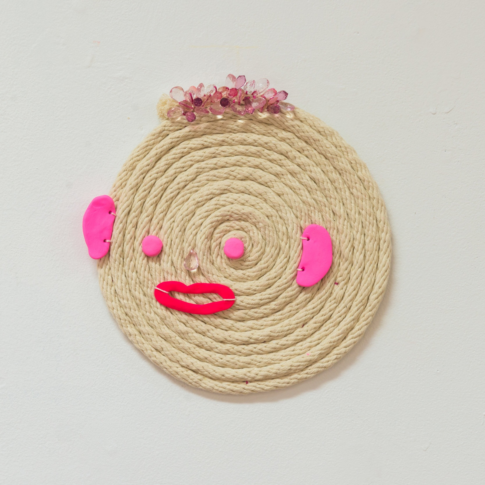 Caleb (haunted by) , 2019 Cotton sash cord, acrylic beads and polymer clay.