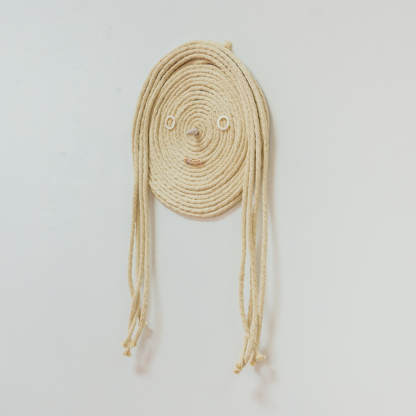 Spectre (Blaize) , 2019 Cotton Sash Cord, shell, polymer clay, freshwater pearls