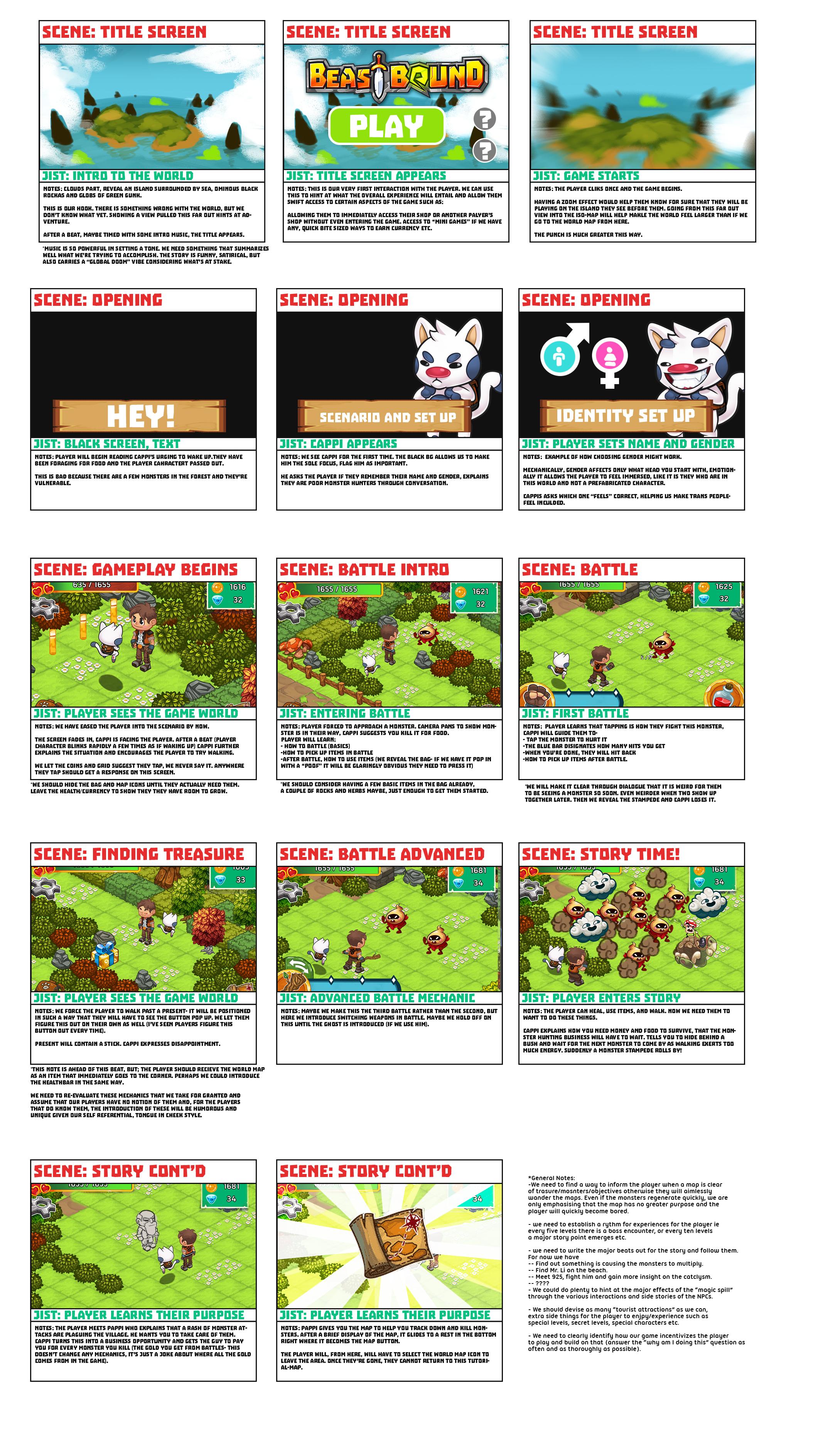 Beast Bound: Intro Storyboard
