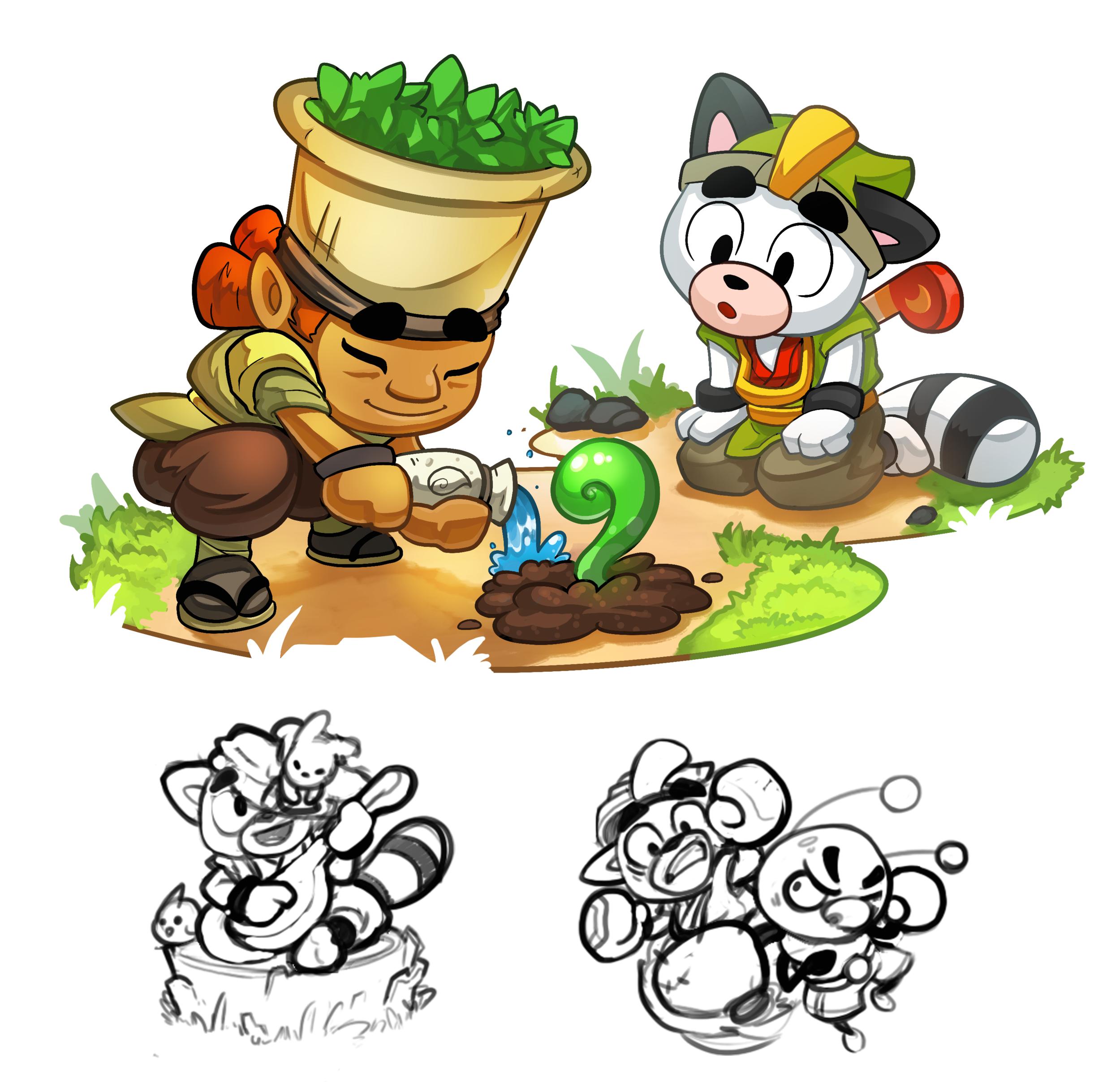 Spirit Link: Spot Illustrations