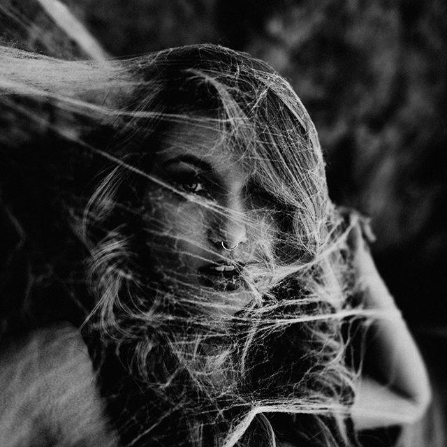 Spiders flee before her... 🕸🕷 #halloween