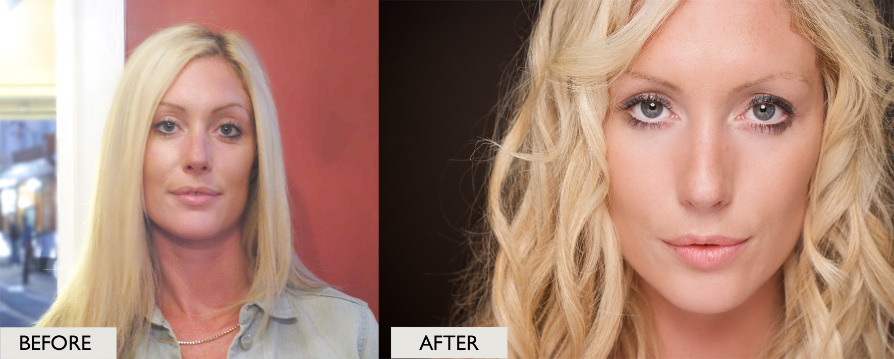 Having said that - here is an example of the transformation process so relax you're going to look amazing!