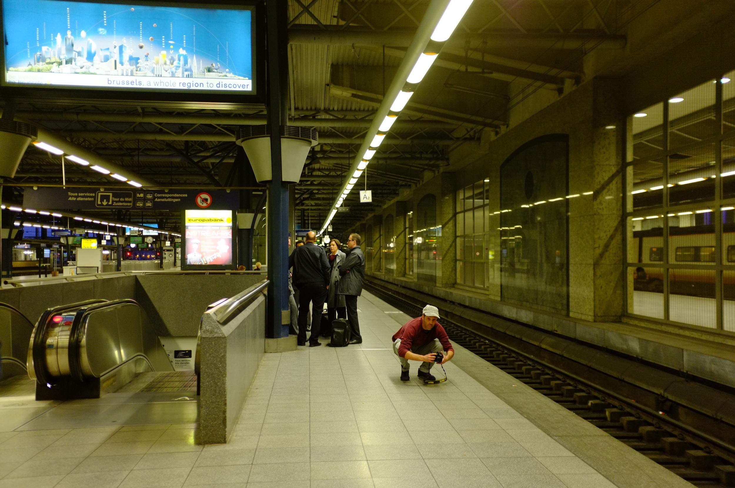 Graham at Brussels Station!