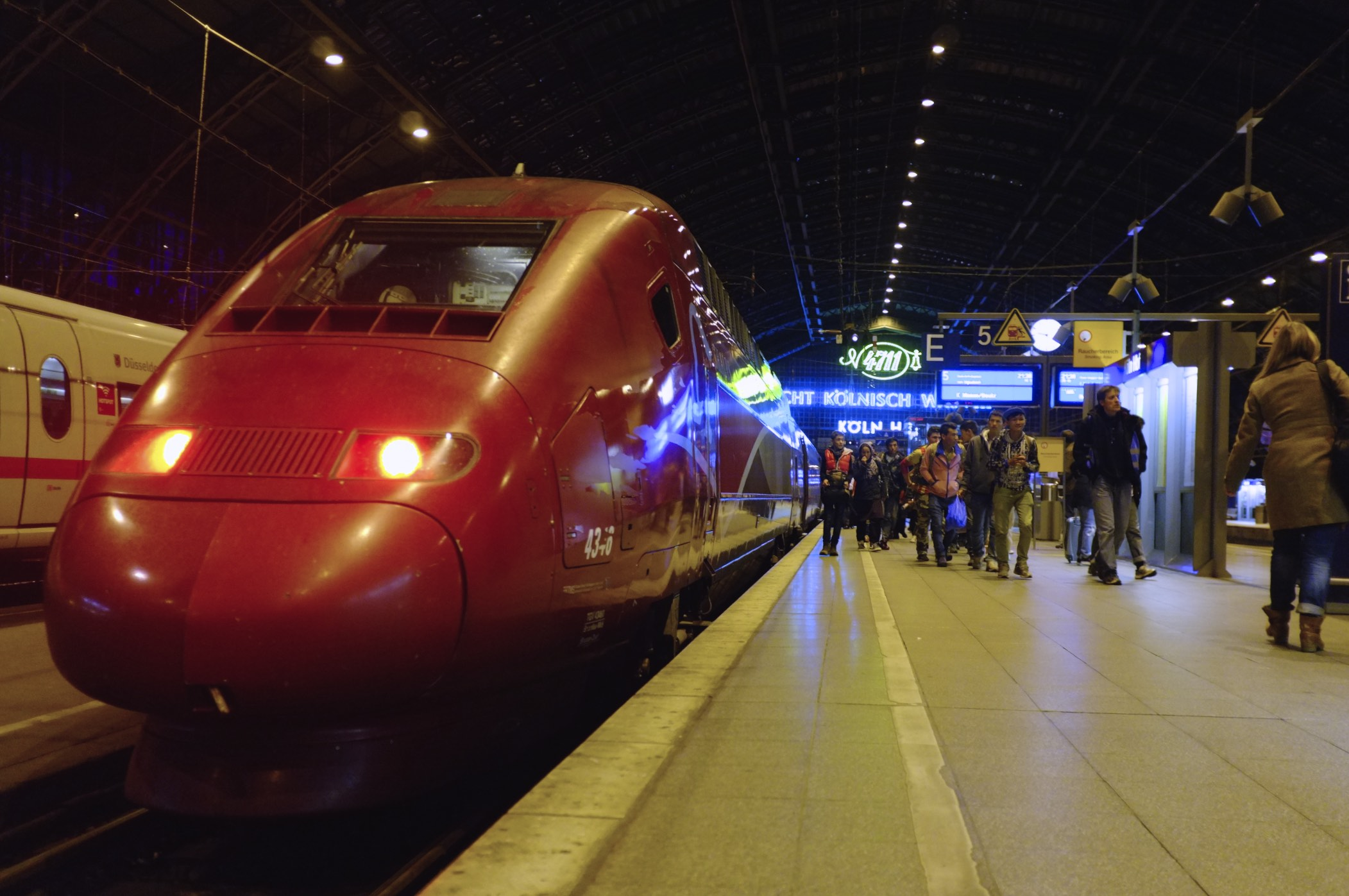 Our train from Brussels to Cologne
