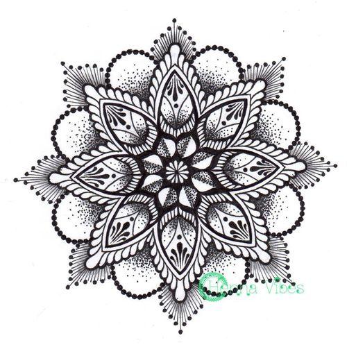 black ink mandala