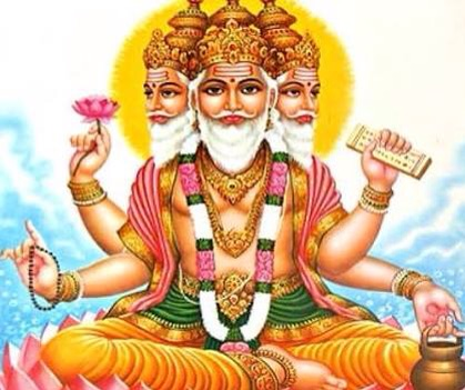 This is brahma., the creator of the universe and has four faces.