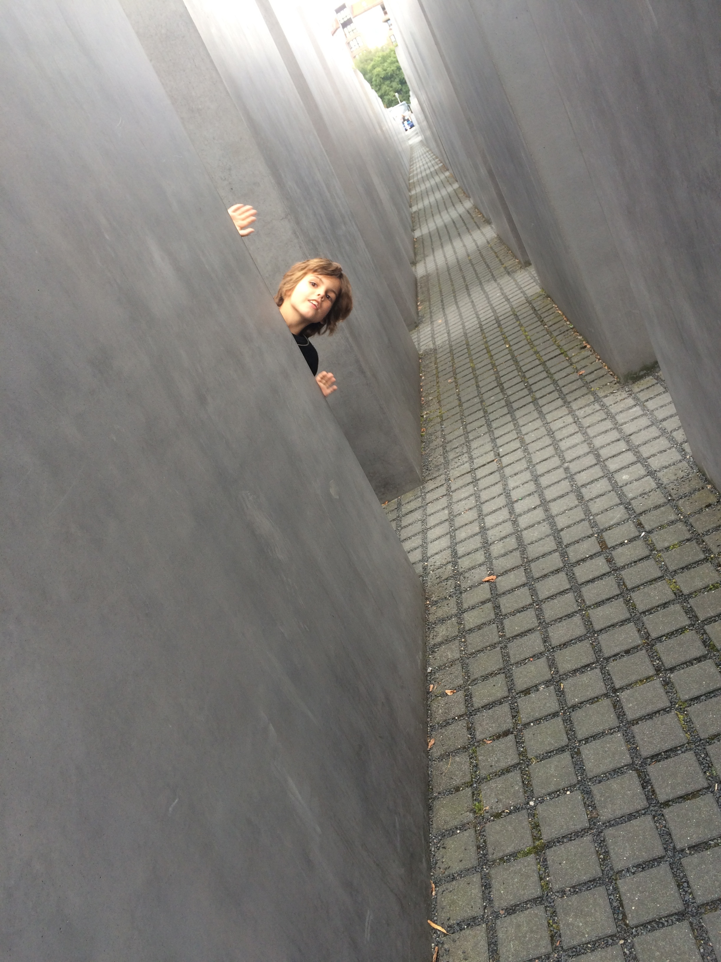 This was a massive monument. It in the middle of berlin. A monument is a structure that allows us to remember a certain event or person. It was like a maze there. It was awesome. However, it was sad because this monument is dedicated to the millions of murdered jews in Europe. This happened in second world war. It was called the Holocaust.