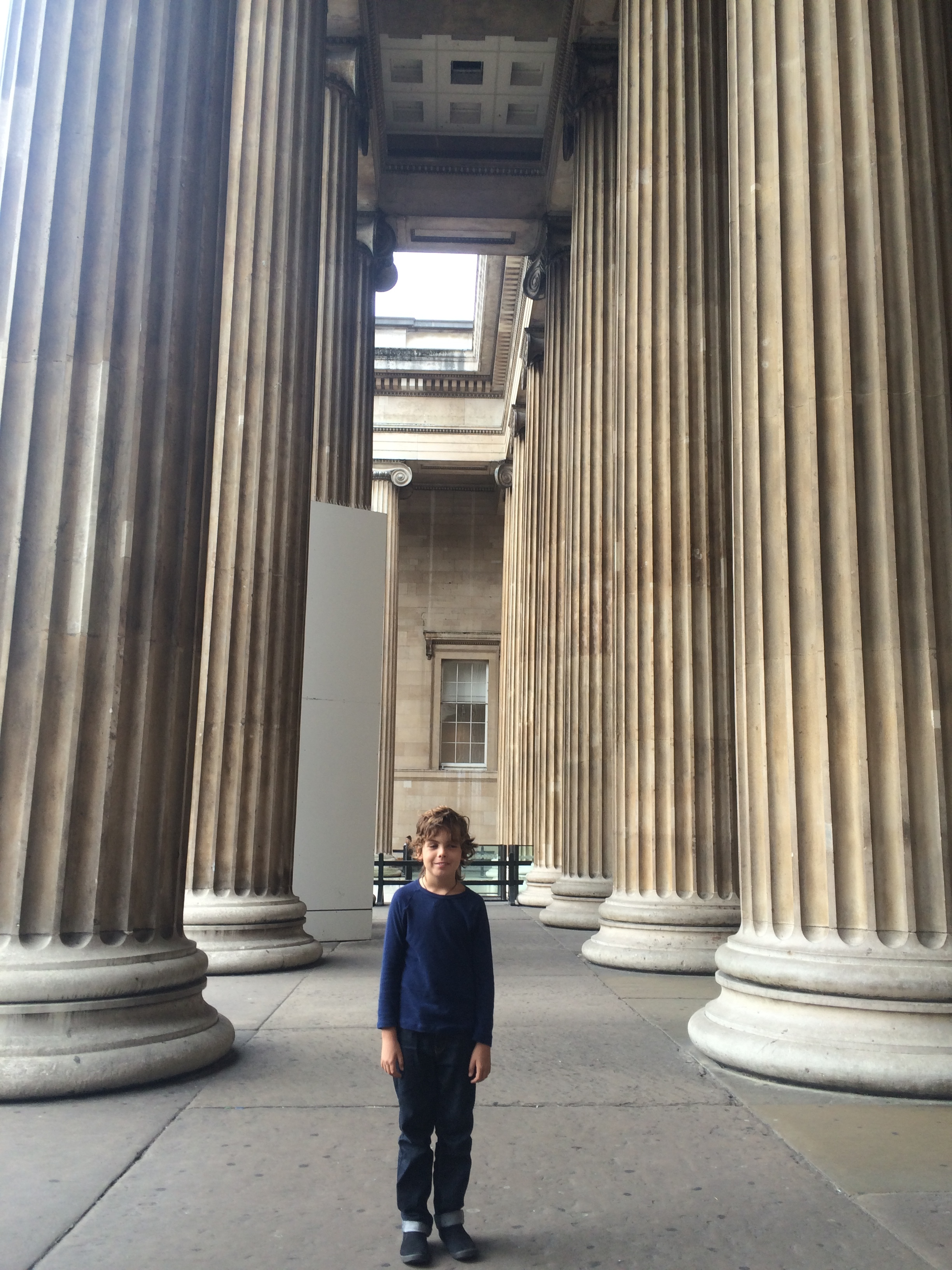 Me at the British Museum. Today I am going to see my friend Joshua and he is coming to my place. We are meeting at the British Museum. We are going to learn about the Iron Age.