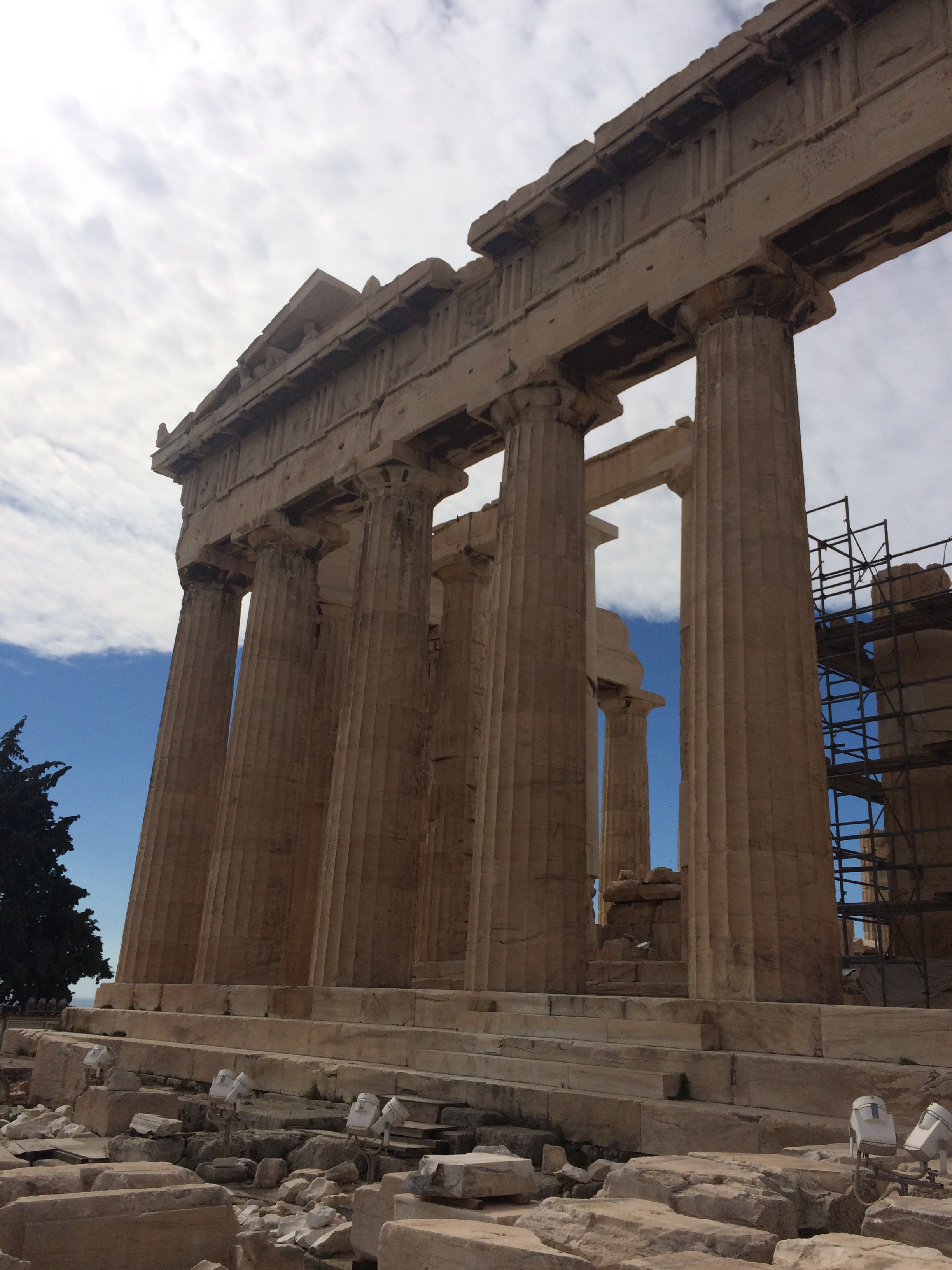 This is the Parthenon. but the sad part is we couldn't go in the building and explore that would be awesome.