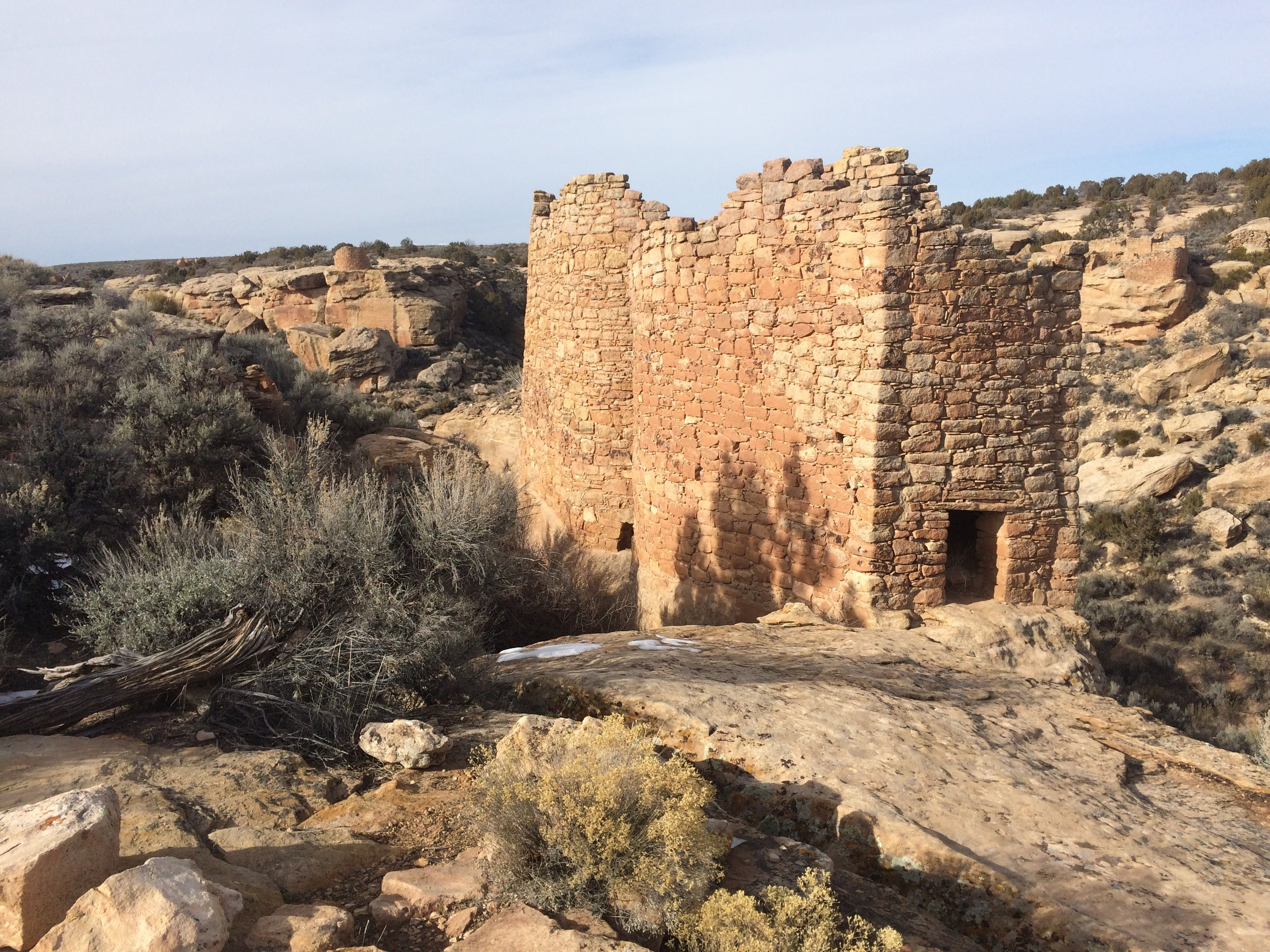 We went to a american Indian towers. We look at and it took one hour to walk around and look at the old towers, which are 800AD,which is a long time ago.