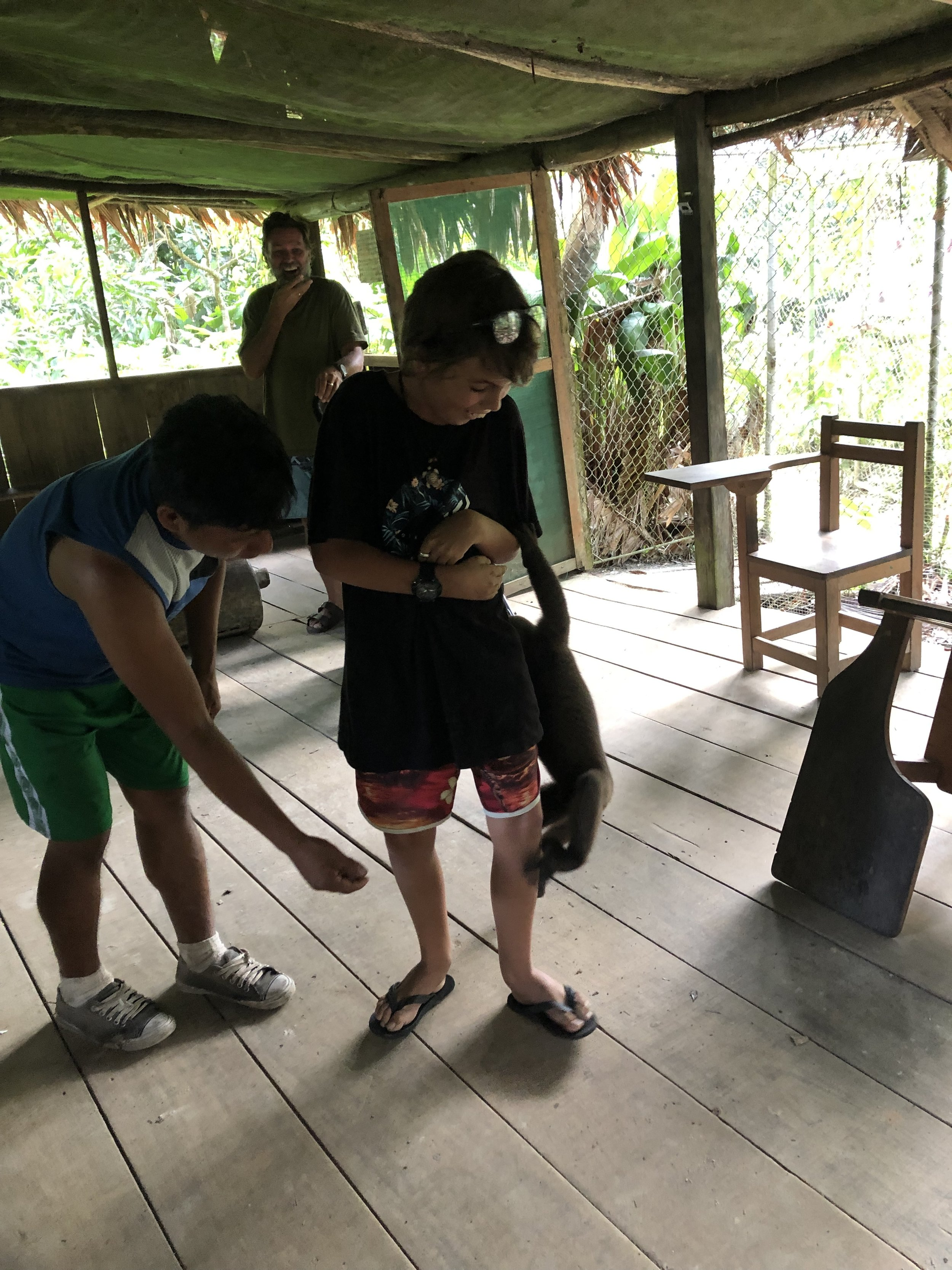 Aaaaaaaaah the Amazon. With monkeys 🐒 and sloths and snakes and spiders 🕷. We had a crazy time at the Amazon, I had a monkey jumping on me and we saw some parrots 🦜, which looked colourful and yeah let's get straight into it.