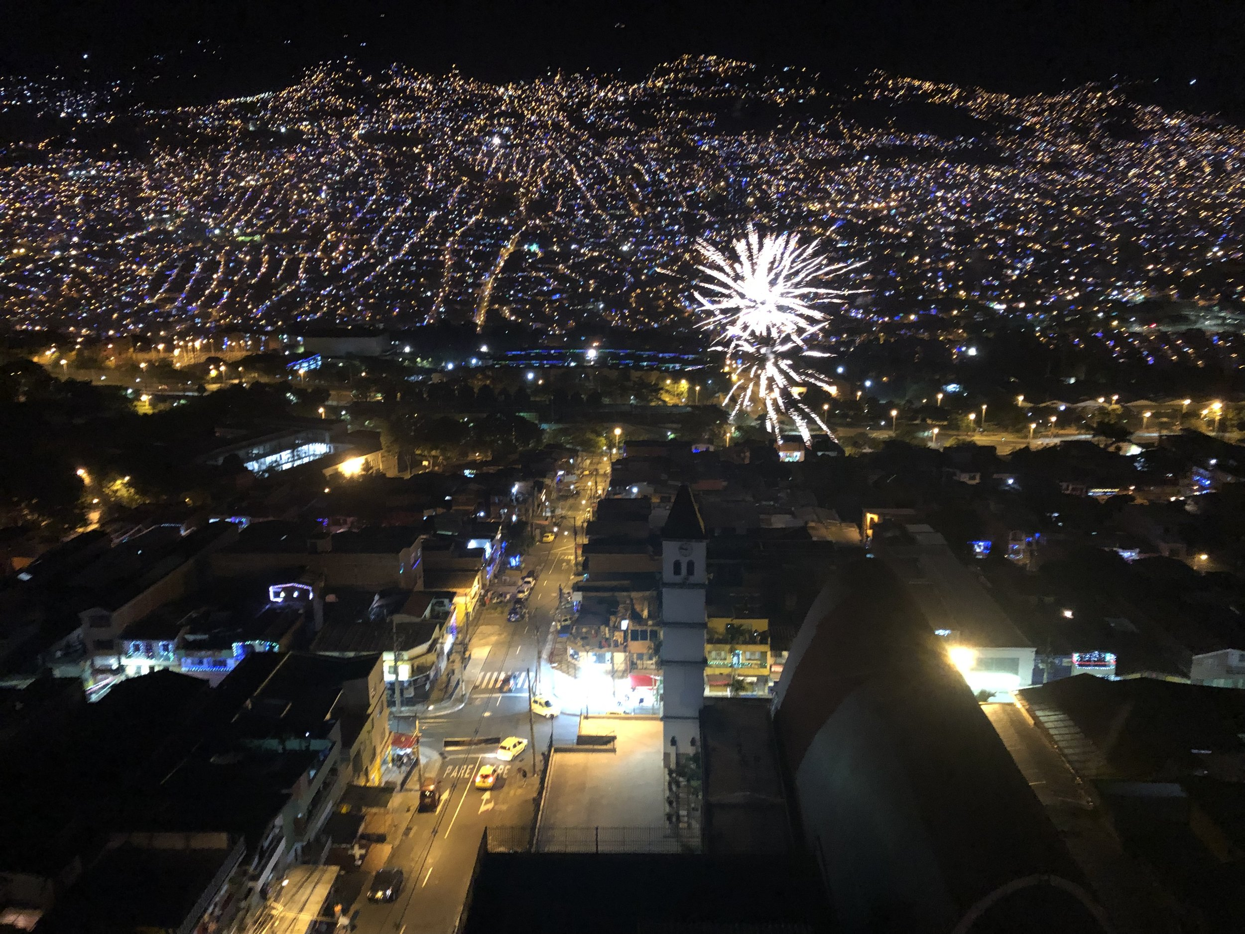 Happy new year to all the new beginnings I'm now in Colombia. It's not dangerous at all anymore, there use to be people getting killed on the street. Now every one is happy because the drug lord Pablo Escobar was gone for good.