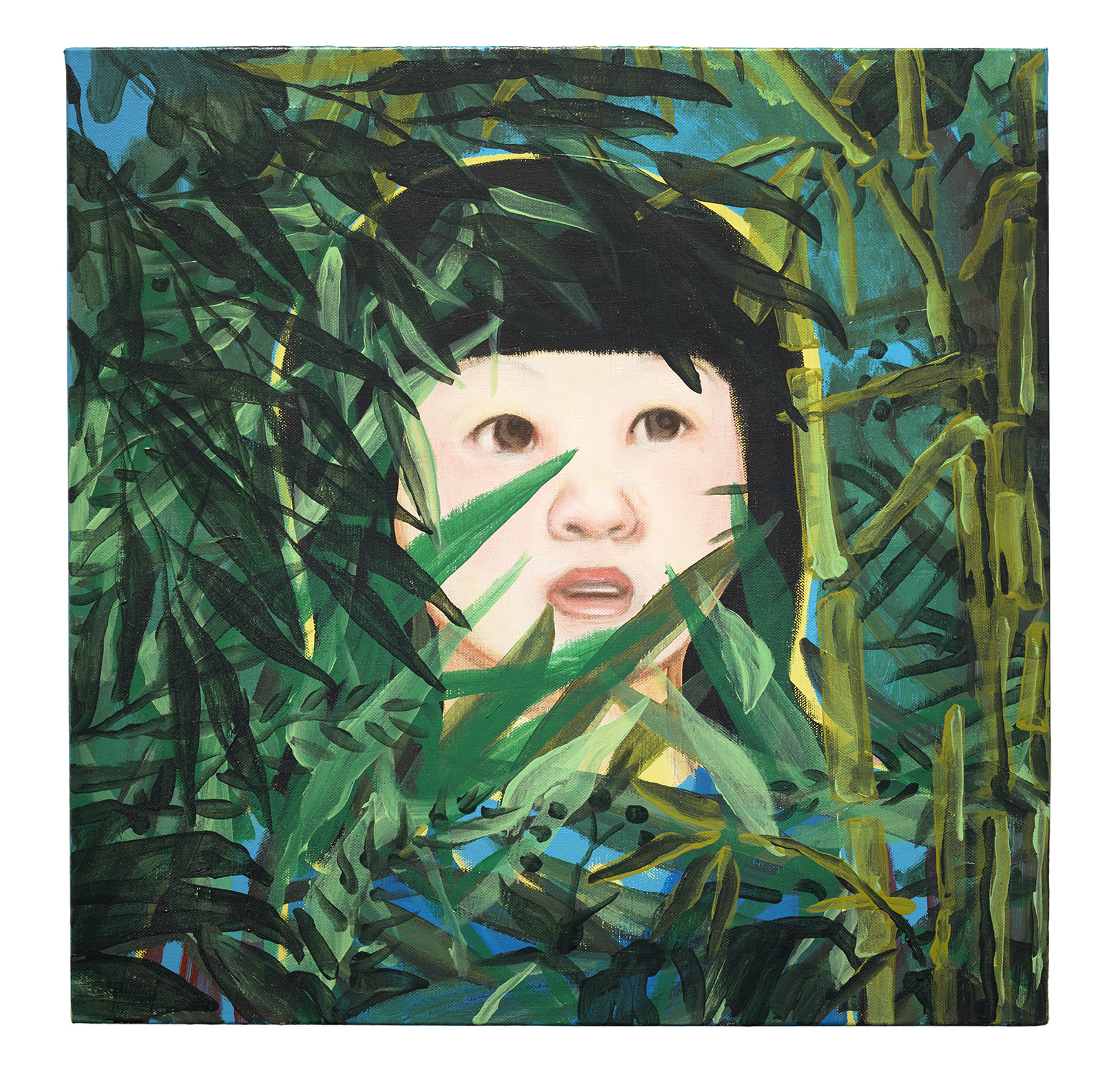 "Lady K : A Strange Paradise, Acrylic on canvas, 2015. 20"" X 20"""