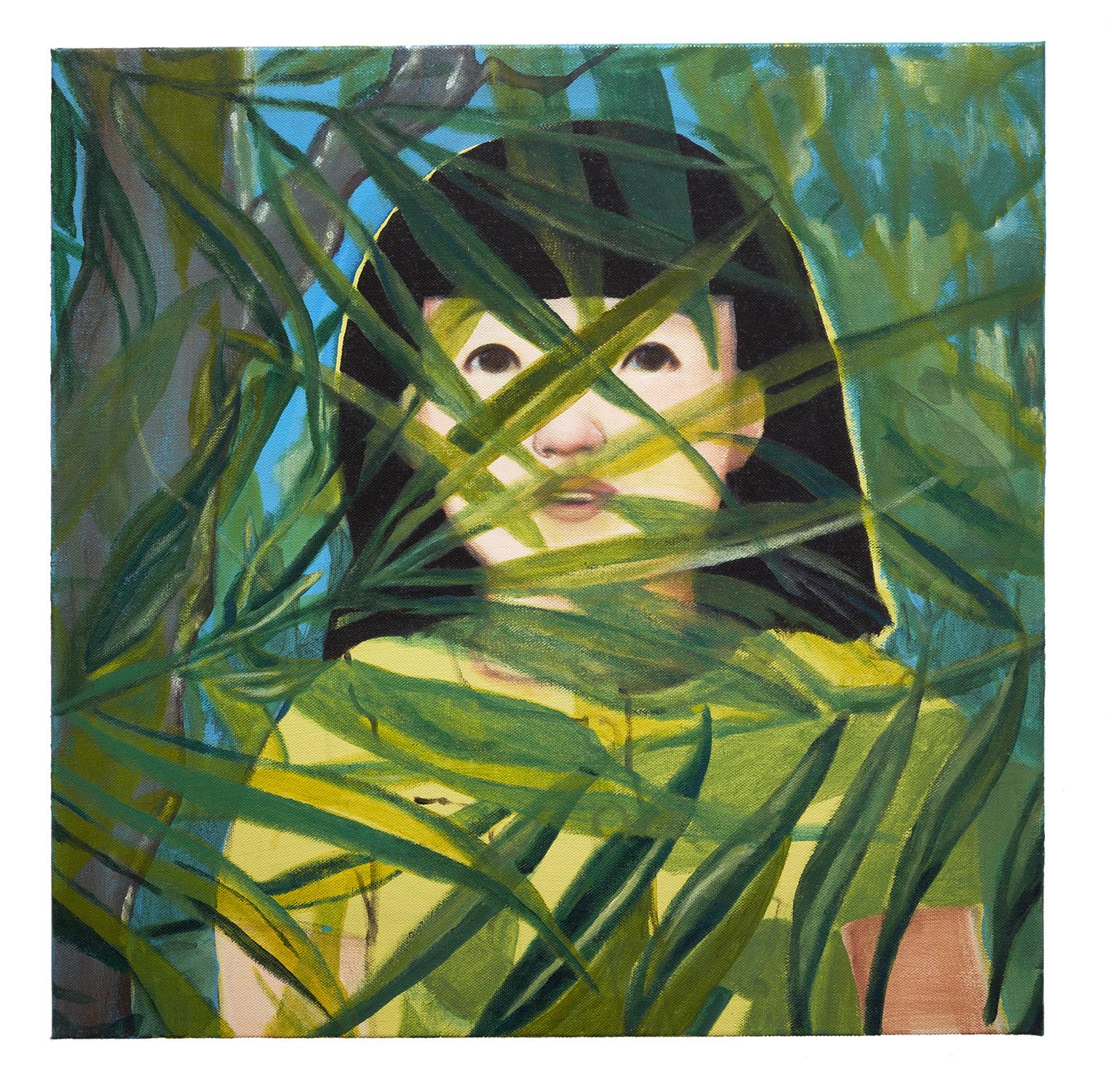 "Lydia Nine Fletcher - A Strange Paradise, Acrylic on canvas, 2015.  20"" X 20"""