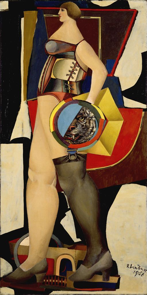 Circus Woman, 1956 by Richard Lindner (1901-1978), Hirshhorn Museum and Sculpture Garden, Washington DC.jpg