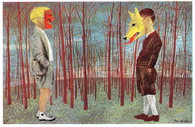 Peter and the Wolf, another Ben Shahn, I look forward to viewing one day in person.
