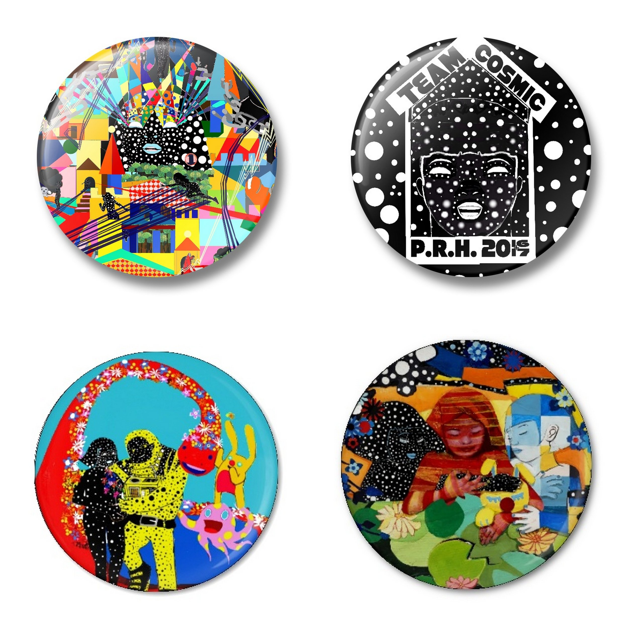 PINS - Pins created to celebrate exhibitions and projects