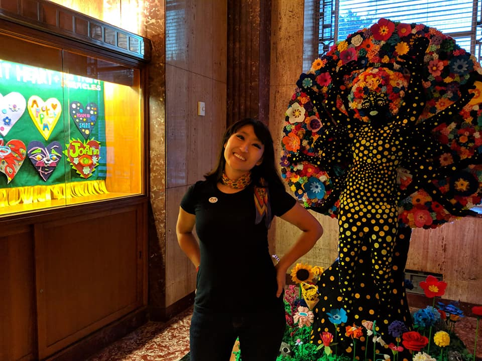 Jooyoung Choi and her installation  Resilient Heart and the Tree of Miracles   Photo Credit: Antarctica Black