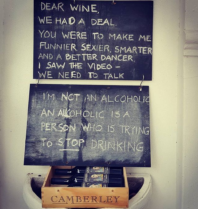 The Confession Board outside our tasting room is home to some of the greatest quotes of our time. Feel free to add some wisdom during your next visit. . . . #camberlwines #camberley #winefarm #quotes #wisdom #redwine #confessions
