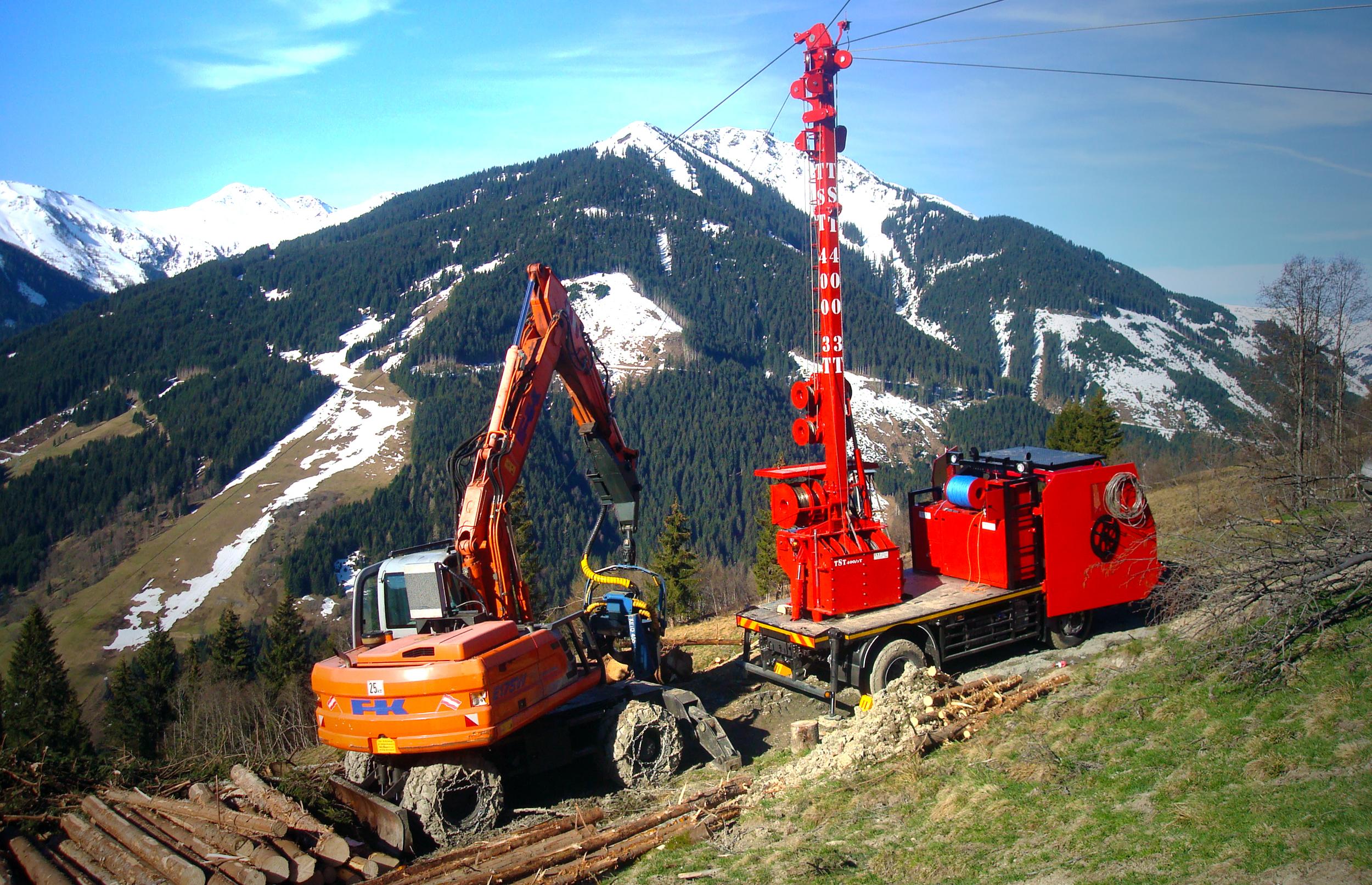 TST 400 Seilgerät / Tower Yarder