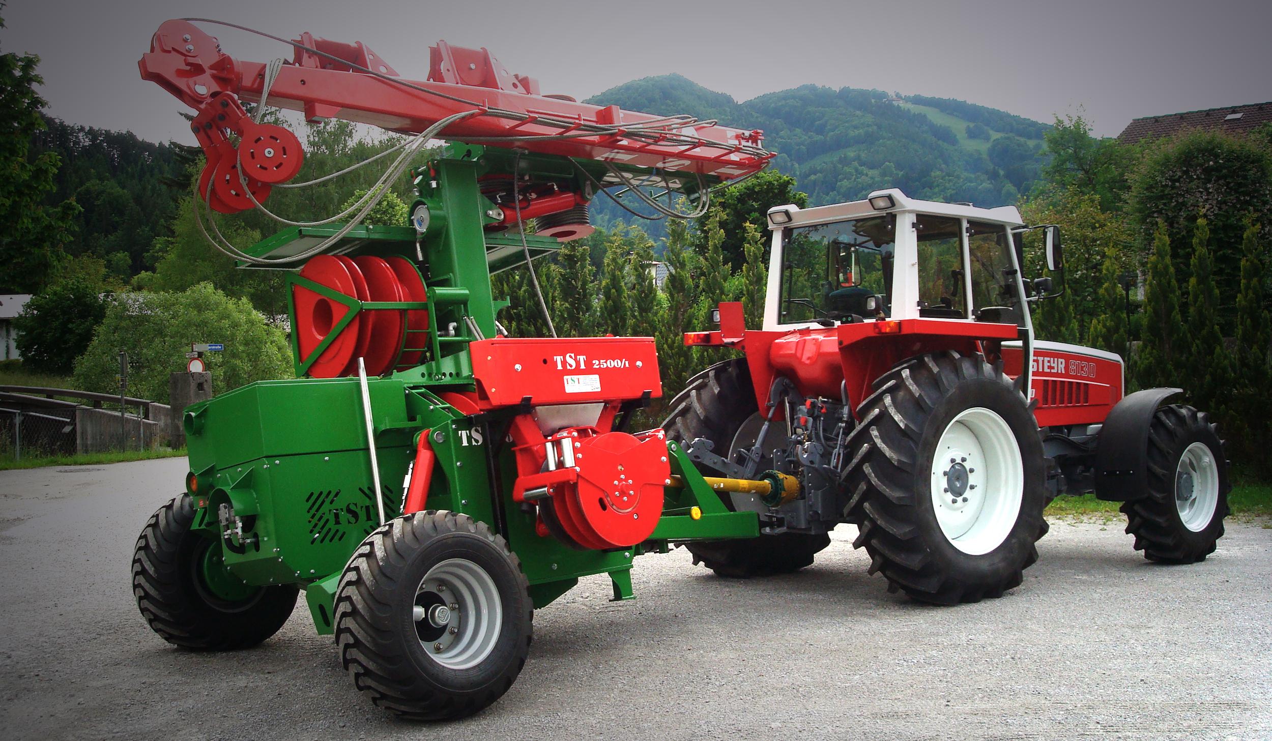 TST 400geländegängig durch verstellbare Deichsel und Achsschenkel - TST 400all terrain capable with height-adjustable drawbar