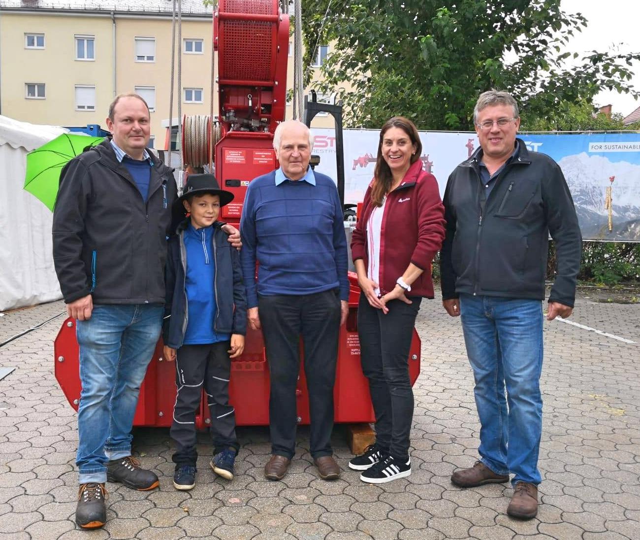 Familie Patterer, Tina und Johann Tröstl.