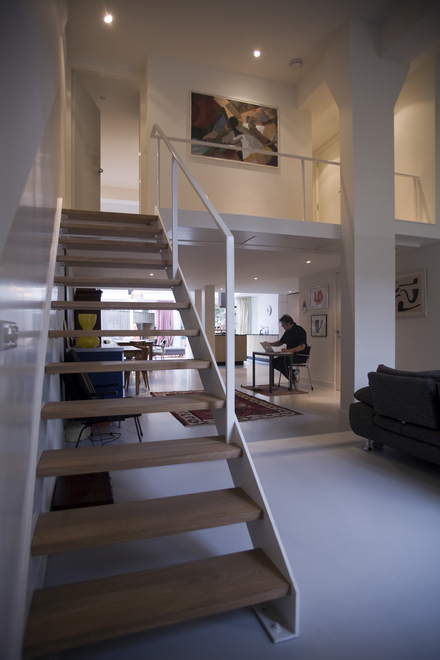 Seven studio apartments in a former post office. Kostverlorenkade Amsterdam.  Completed 2011