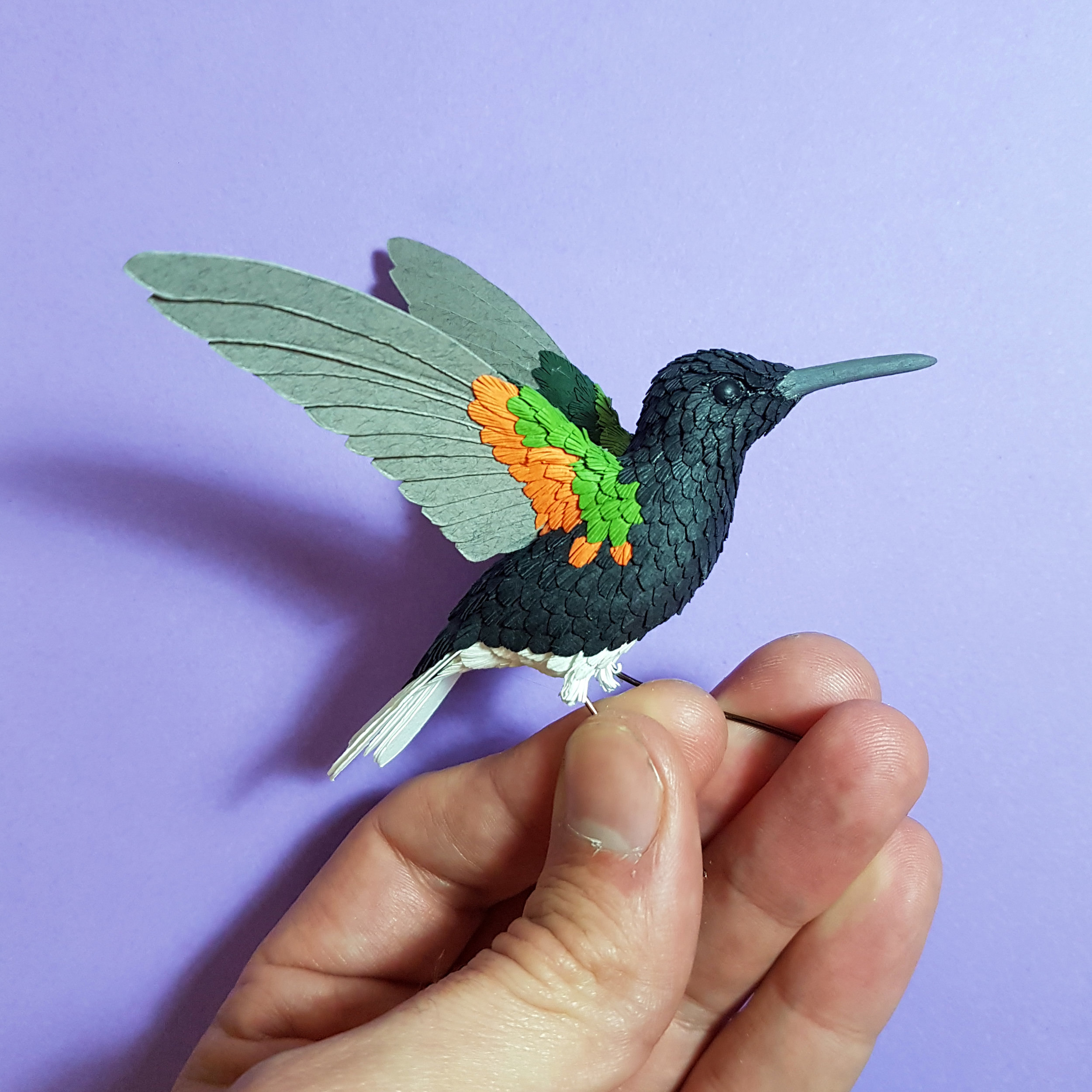 Beautiful bright paints will make this guy a velvet purple coronet.