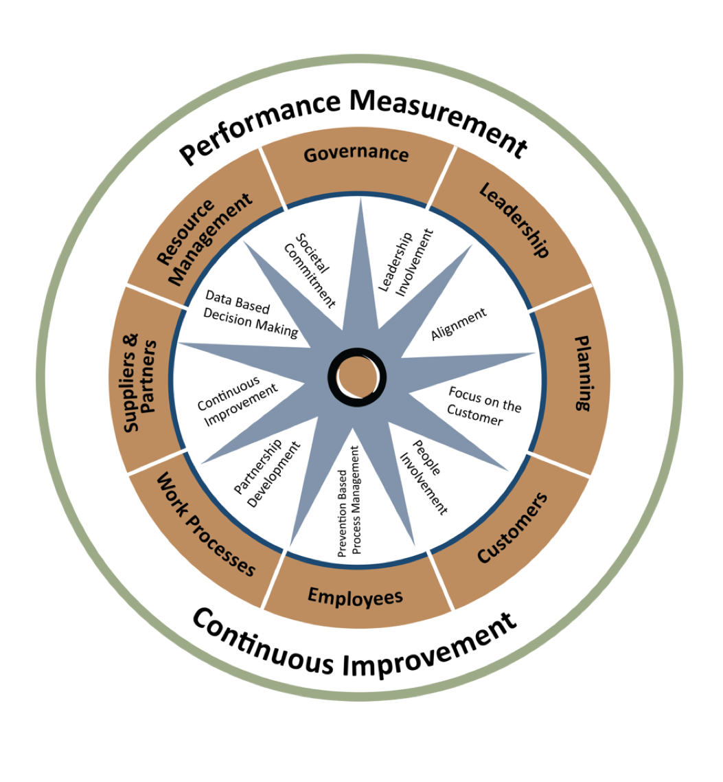 Organizational Excellence Framework used with permission.  Dawn Ringrose & Associates, 2010