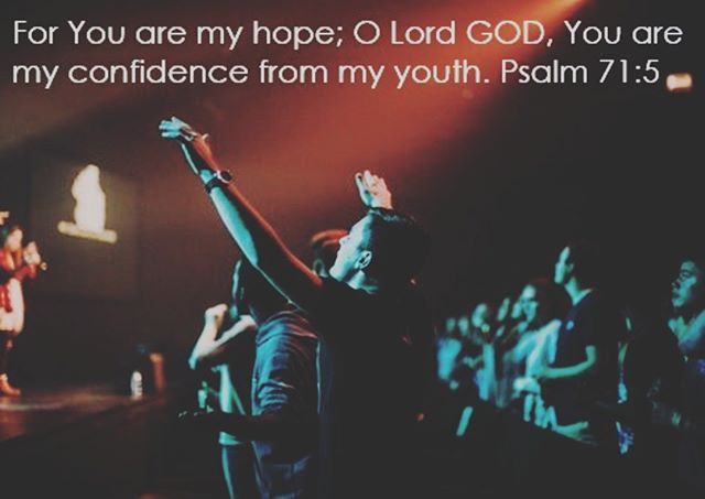 'For You are my hope; O Lord GOD, You are my confidence from my youth.' Psalm 71: 5 Come and encounter God in worship every Sunday morning at 10:30am - meeting at Jane Austen College @onenorwichelim #oneyouthnorwich #norwich #youth #worship #friends #encounter #God #holyspirit #jesus