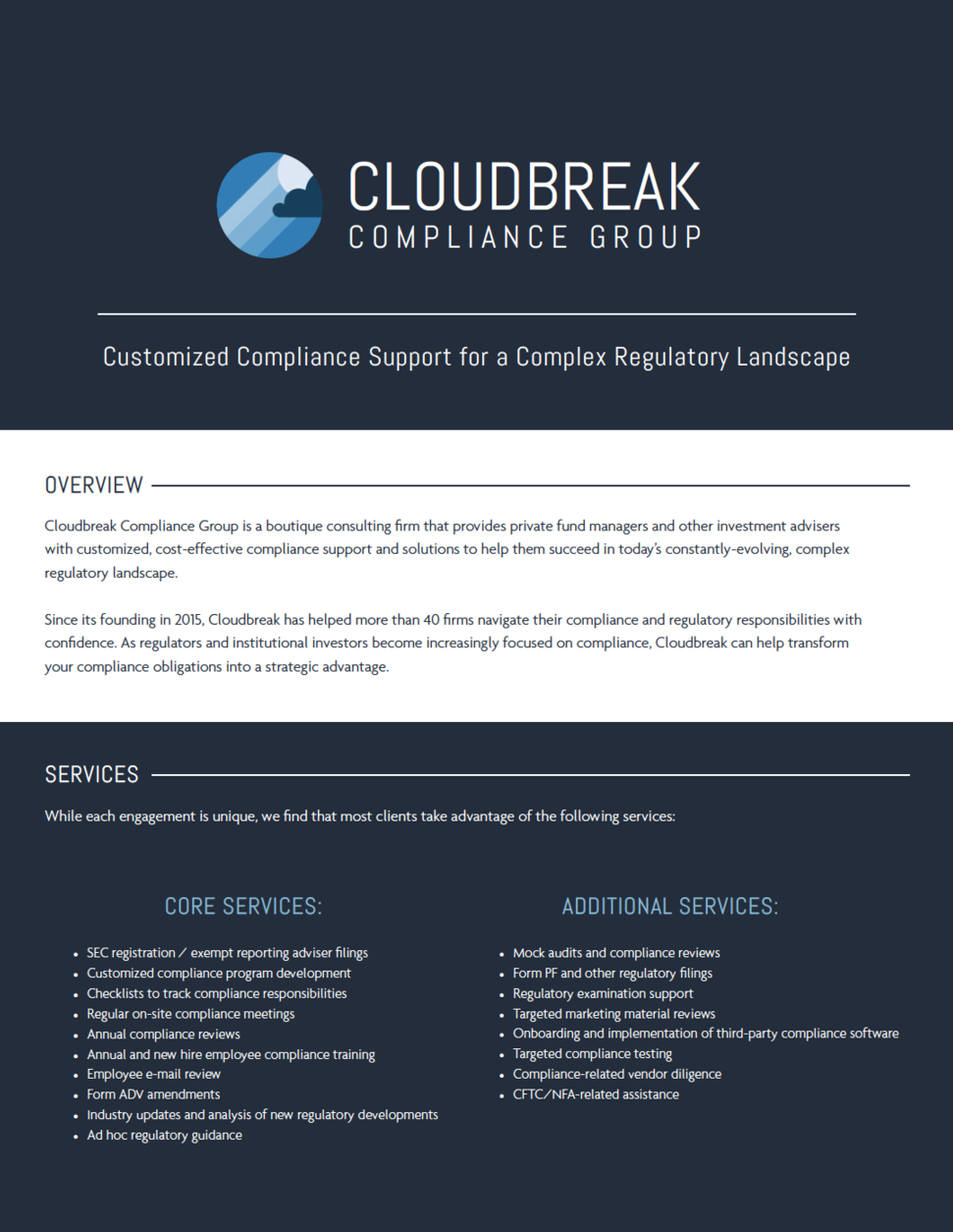 Cloudbreak One-Pager