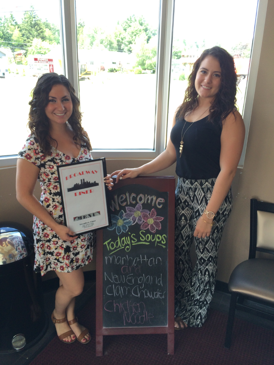 Hostesses Gina and Amy welcome you to The Broadway