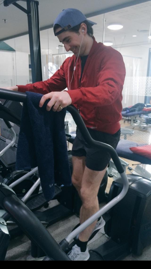 Tristan  Shorts- http://www.lululemon.co.uk   Trainers-  http://m.nike.com/