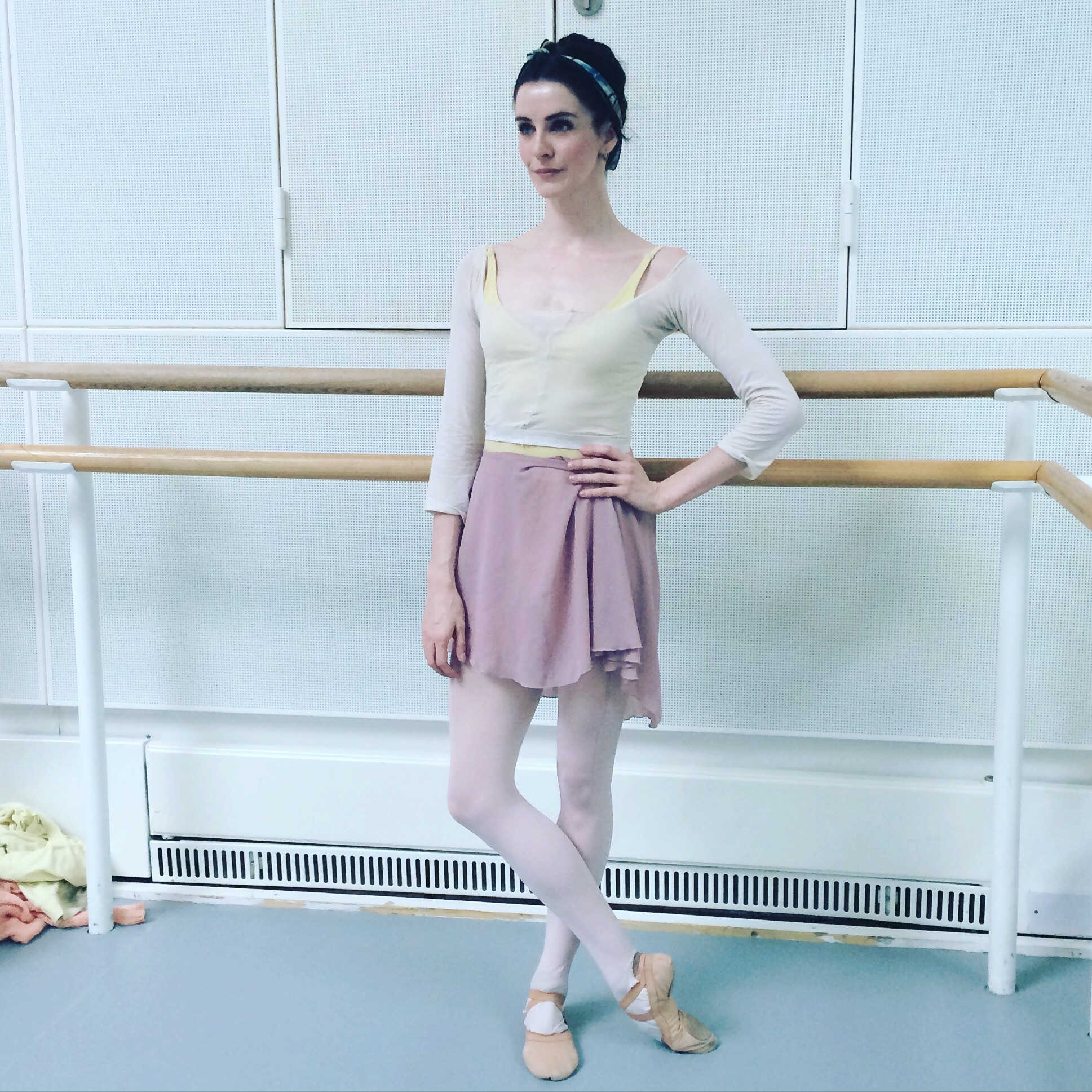 Me in a pair of Capezio tights that I have cut to create a top!  Tights-  http://www.capezio.com