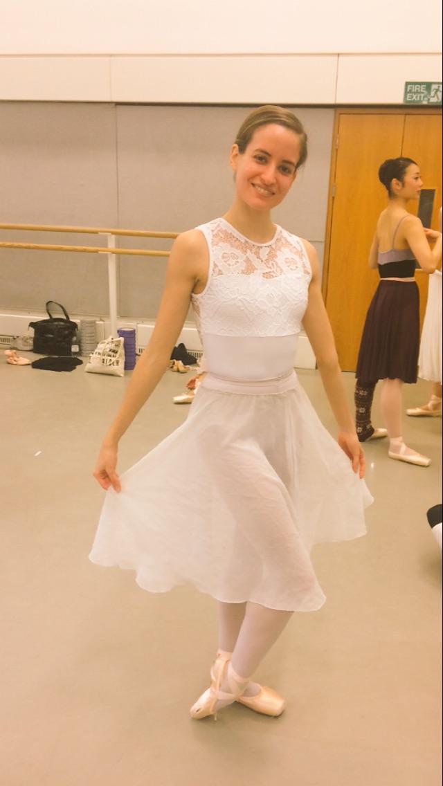 Lettie in pure whites  leotard-  http://www.capezio.com