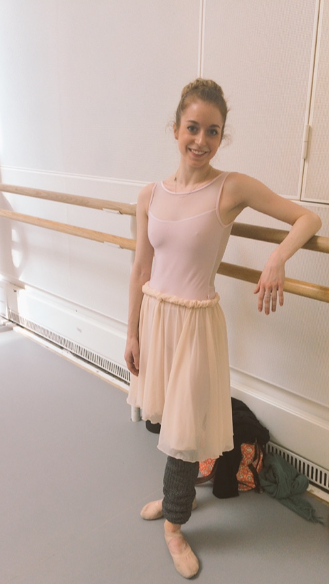 Meaghan in pinks and creams  leotard -  http://global.yumiko-online.com