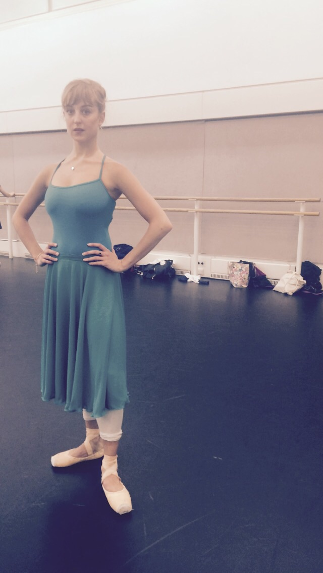 Camille in sea greens.
