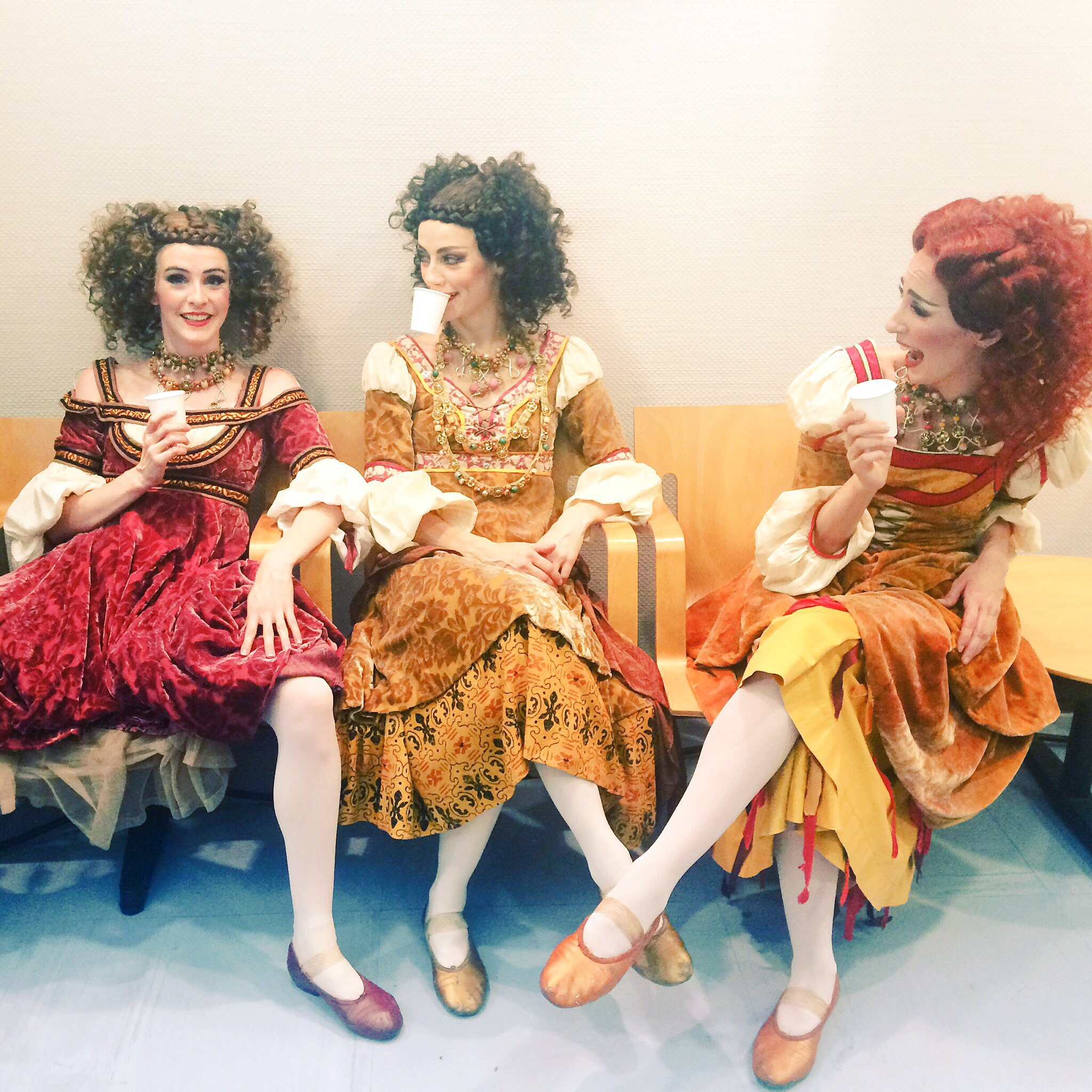 Myself, Helen and Itzi hydrating after a show of Harlots in Romeo and Juliet!