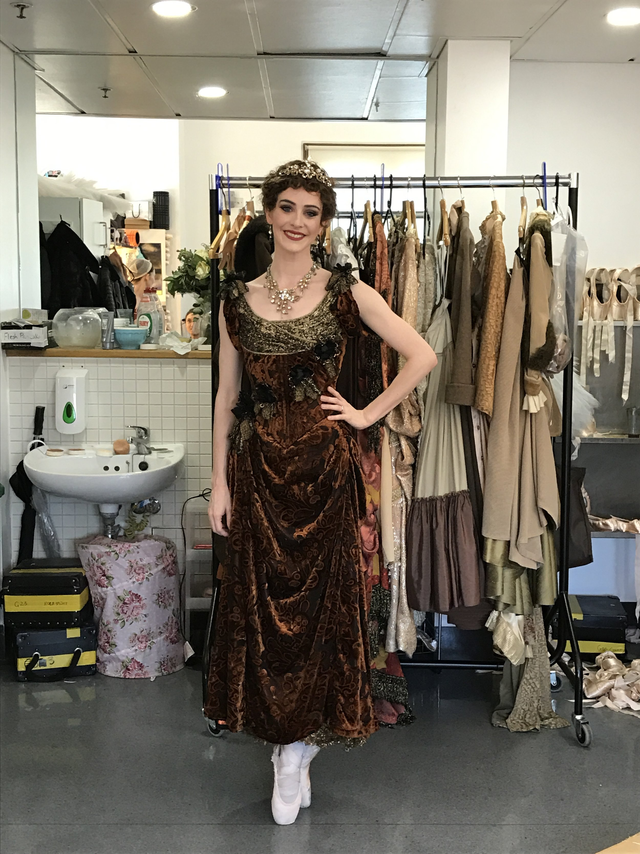 ACT THREE. BEDROOM SCENE. PERFECT DRESS TO FINISH WITH. LUCIOUS HEAVY VELVETS BUT LIGHT AS A FEATHER.