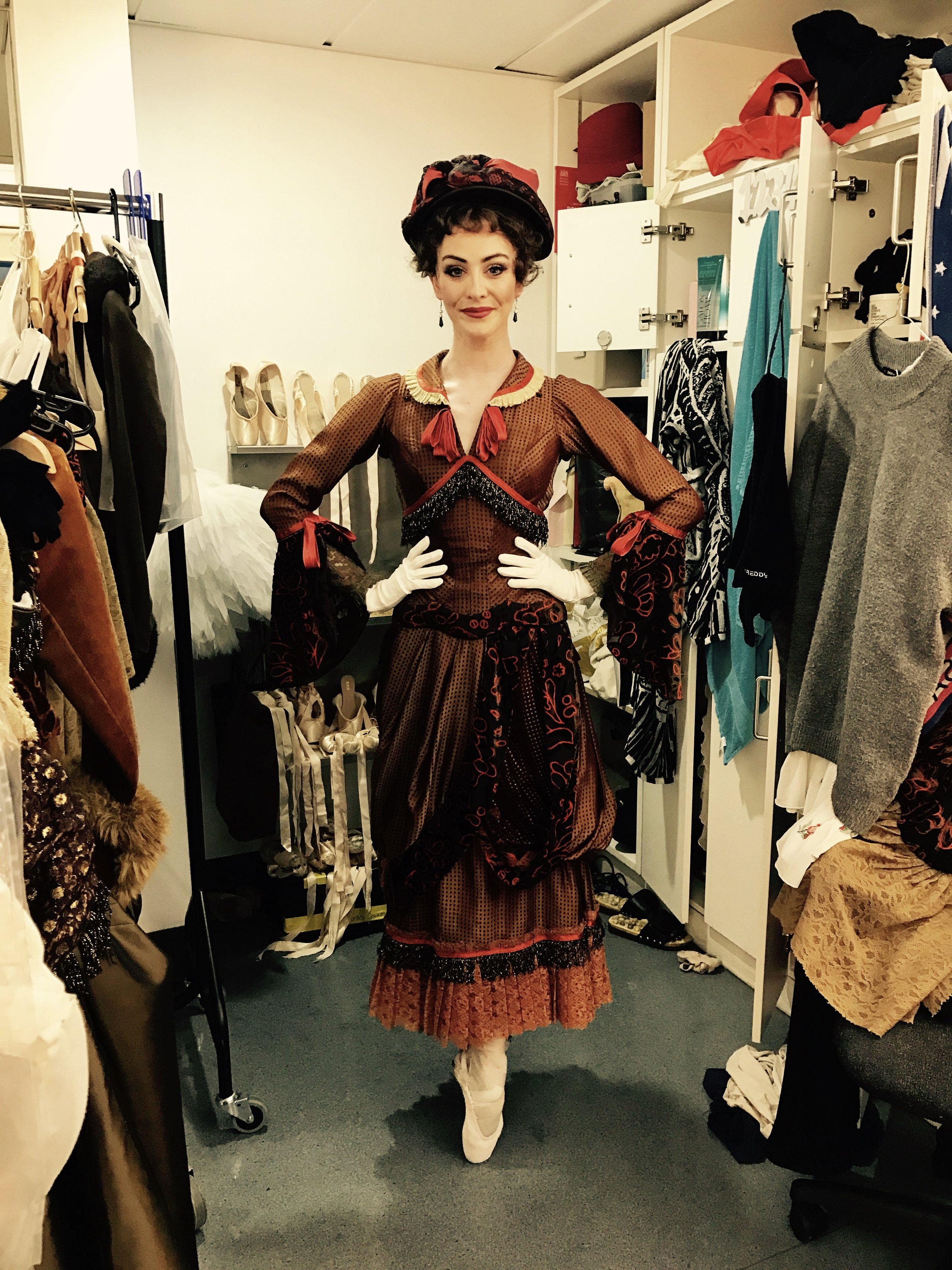 ACT TWO, CARD SCENE. GORGEOUS OPULENT COSTUME. A VERY IMPORTANT SCENE FOR THE STORY. QUITE HEAVY ON THE BUSTLE, SO HAVE TO TAKE EXTRA CARE WHILE MANOUVERING AROUND THE TABLE.