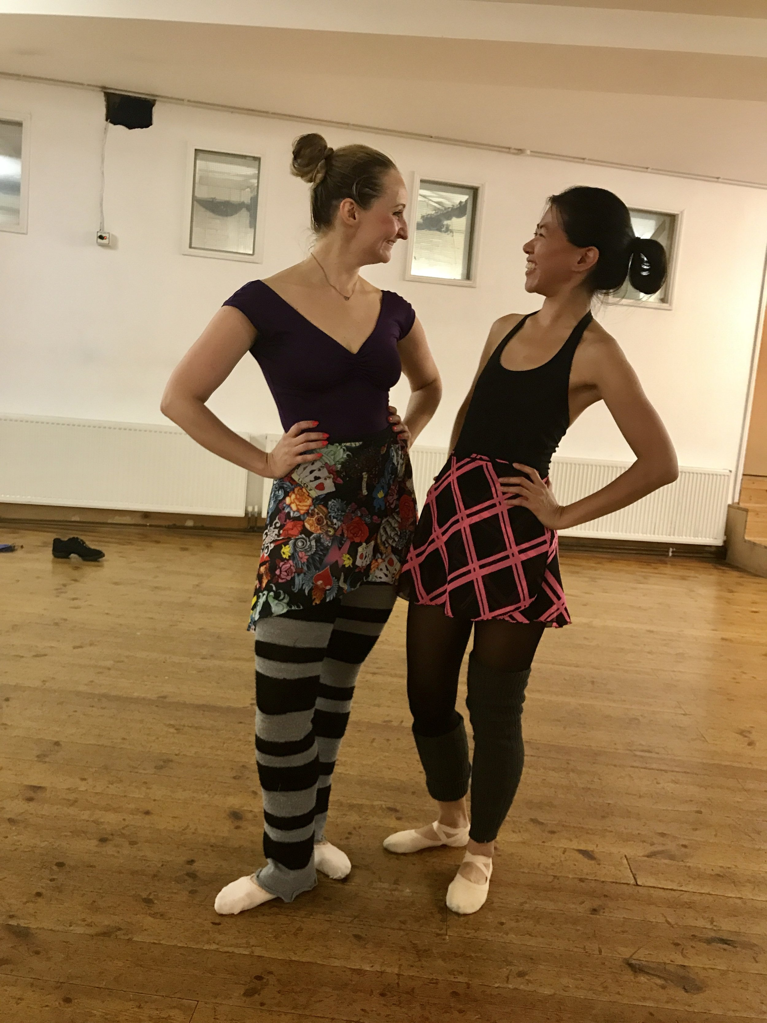 Some really fun skirts worn by Jess and Tracy. Super colourful !   Skirts - https://m.facebook.com/balletmafialondon/