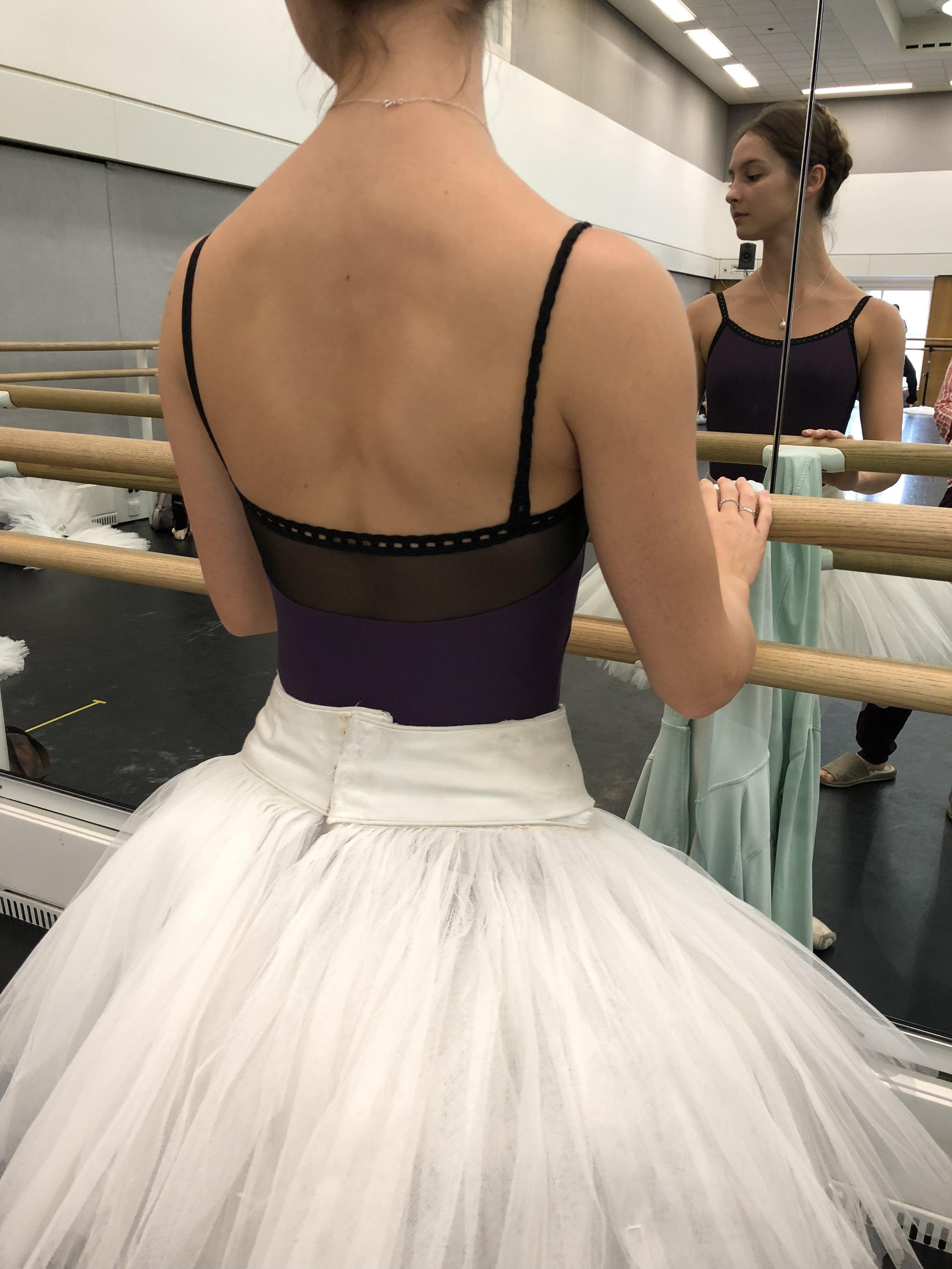 Ashley wearing a cute meshy number  .   https://www.dancewearcentral.co.uk