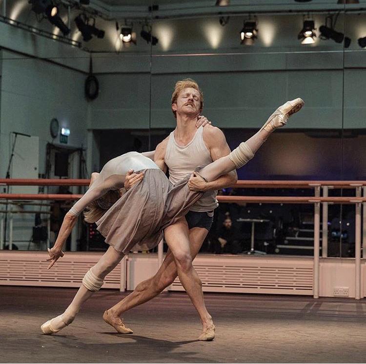Sarah and Steven rehearsing Mayerling for World Ballet Day.   Photography - Andrej Uspenski