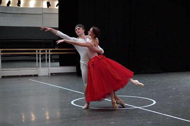 Lauren Cuthbertson with Matthew Ball