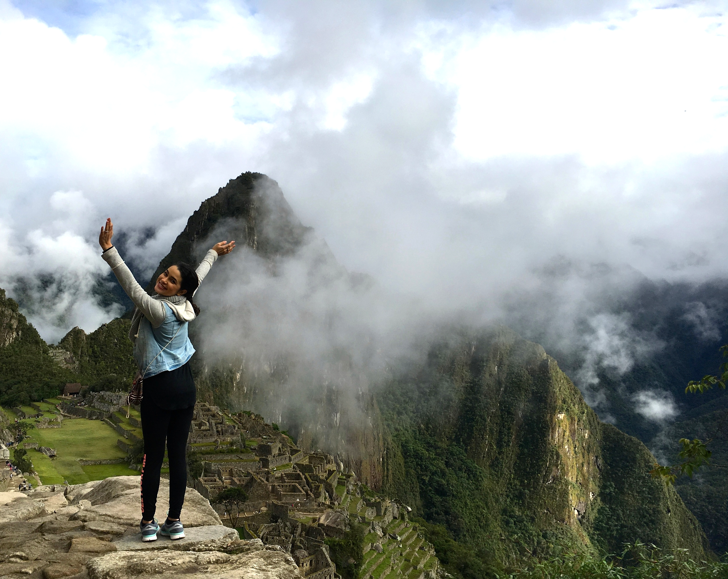 Me, choosing to be happy on the top of Machu Picchu :)